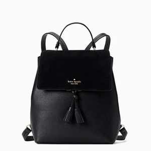 NWT Kate Spade Hayes Suede Medium Flap Backpack